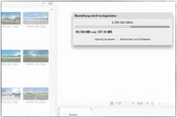 Produkttest-Saal-Digital Designsoftware Uploadprozeß